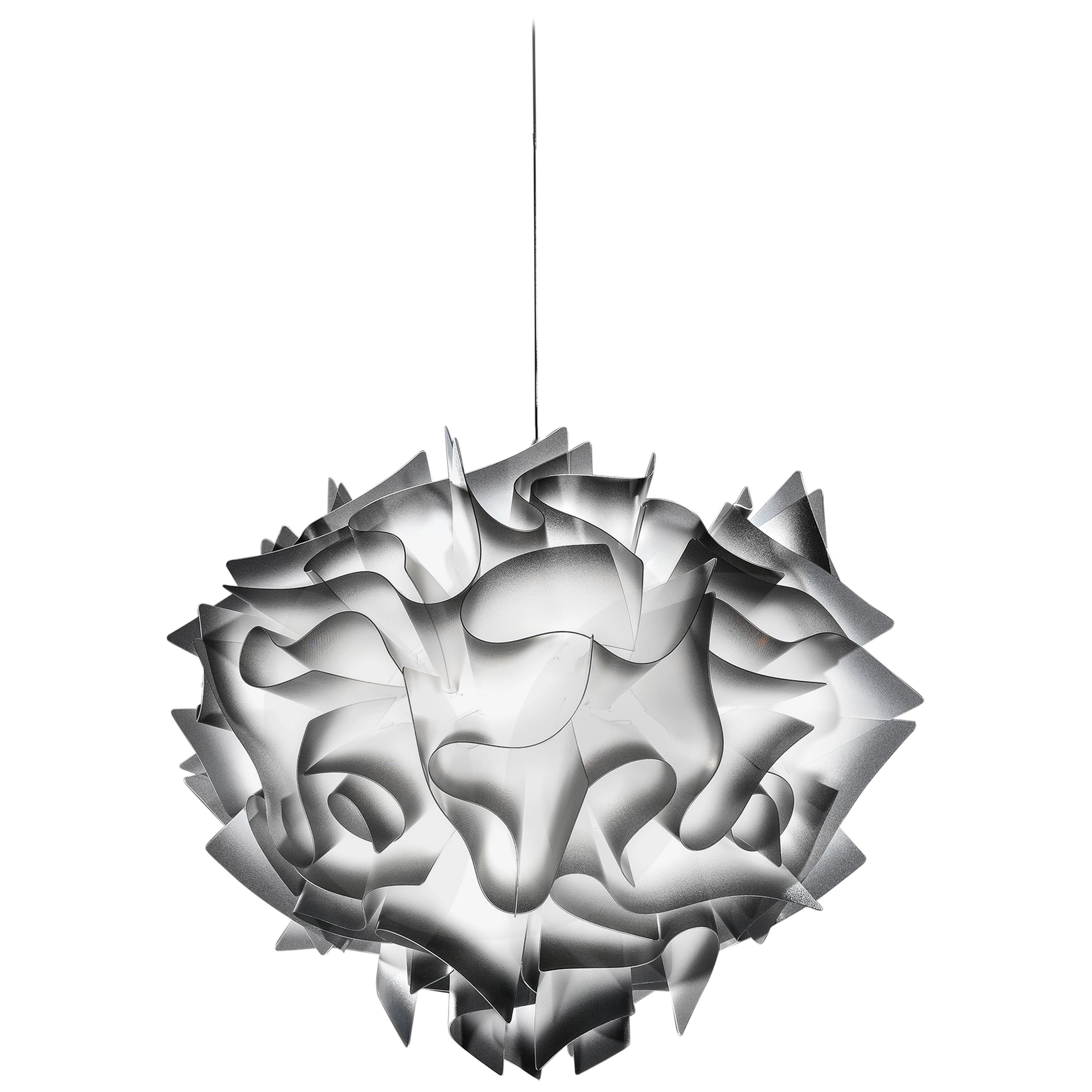 SLAMP Veli Large Suspension Light in Charcoal by Adriano Rachele