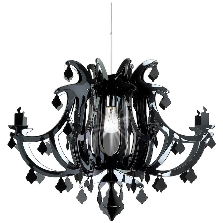 SLAMP Ginetta Pendant Light in Black by Nigel Coates