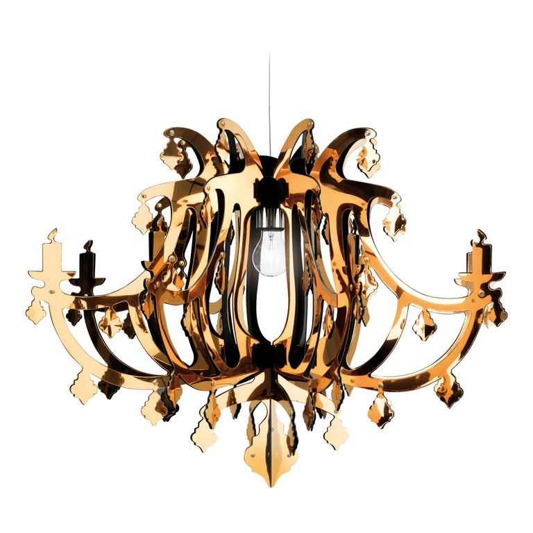 SLAMP Ginetta Pendant Light in Gold by Nigel Coates