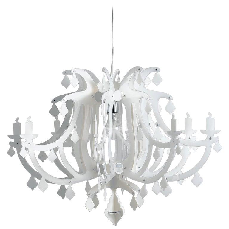 SLAMP Ginetta Pendant Light in White by Nigel Coates