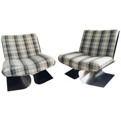 Pair of Lounge Chairs Attributed to Michel Boyer, 1970s