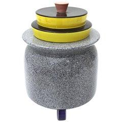 Ceramic Vase Memphis Style by Baldelli, 1980s