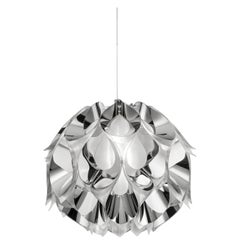 SLAMP Flora Small Pendant Light in Silver by Zanini De Zanine