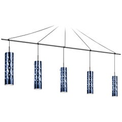 SLAMP Dimple Penta Pendant Light in Blue by Pantone & Pavoncello