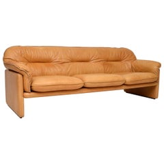 1960s Vintage Leather DS16 Sofa by De Sede