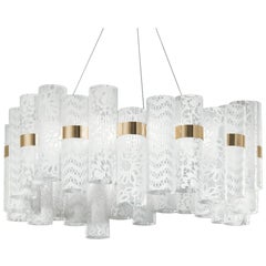 SLAMP La Lollo Large Pendant Light in White Lace by Lorenza Bozzoli