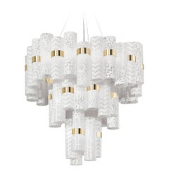 SLAMP La Lollo Extra Large Pendant Light in White Lace by Lorenza Bozzoli