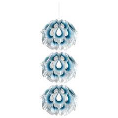 SLAMP Flora Triple Pendant Light in Blue by Zanini De Zanine