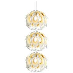 SLAMP Flora Triple Pendant Light in Yellow by Zanini De Zanine