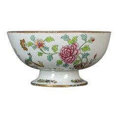 Antique Ironstone Bowl, 19th Century, Victorian, Chinoiserie Ceramic