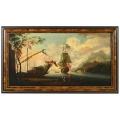 Attributed to Adriaen Van Diest, a Port Scene, Oil on Canvas