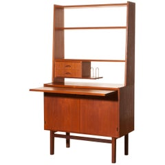1950s Teak Secretaire Cabinet by Hovmantorp