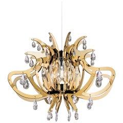 SLAMP Lillibet Pendant Light in Gold by Nigel Coates
