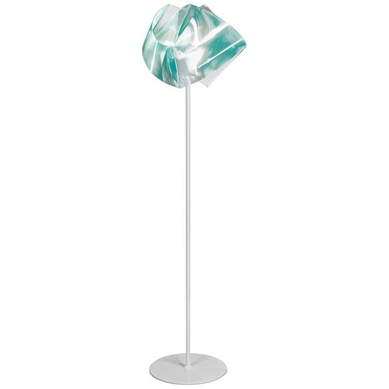SLAMP Gemmy Floor Light in Emerald by Spalletta, Croce, Ragnisco & Wijffels