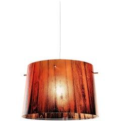 SLAMP Woody Pendant Light in Orange by Luca Mazza