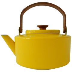 Enameled Yellow Teapot by Michael Lax for Copco, Spain, 1960