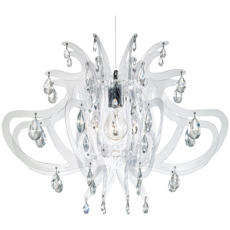 SLAMP Lillibet Pendant Light in Transparent by Nigel Coates