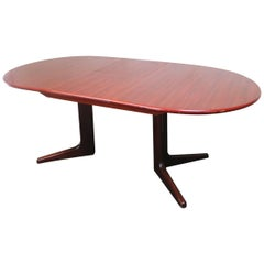 1970s Danish large extending dining table by Skovby
