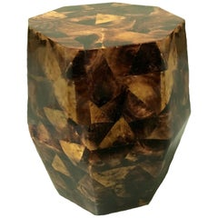 Penshell Octagonal Garden Stool or Side Table by Maitland-Smith