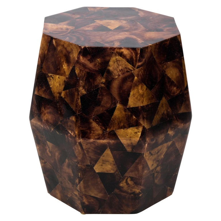 Penshell Octagonal Garden Stool Or Side Table By Maitland Smith For