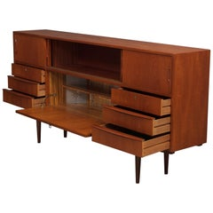 Danish Sideboard with Lighted Bar