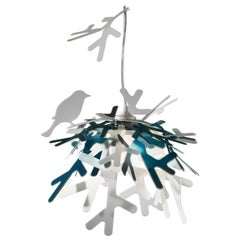 SLAMP Luì Pendant Light in Blue & Bronze by Adriano Rachele