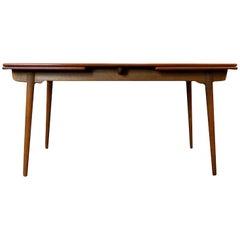 Hans J. Wegner AT-312 Oak and Teak Extendable Dining Table