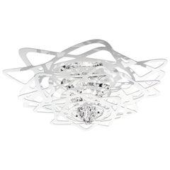 SLAMP Aurora Mini Flush Light in White by Nigel Coates