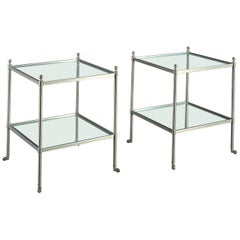 Mid-20th Century Pair of Two-Tier Tables