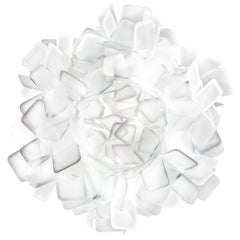 SLAMP Clizia Medium Flush Light in White by Adriano Rachele