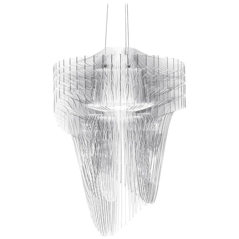 SLAMP Aria Medium Pendant Light in Transparent by Zaha Hadid