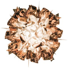 SLAMP Veli Mini Flush Light in Copper by Adriano Rachele