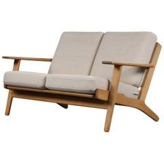 Hans J. Wegner Two-Seating Oak Sofa GE-290/2