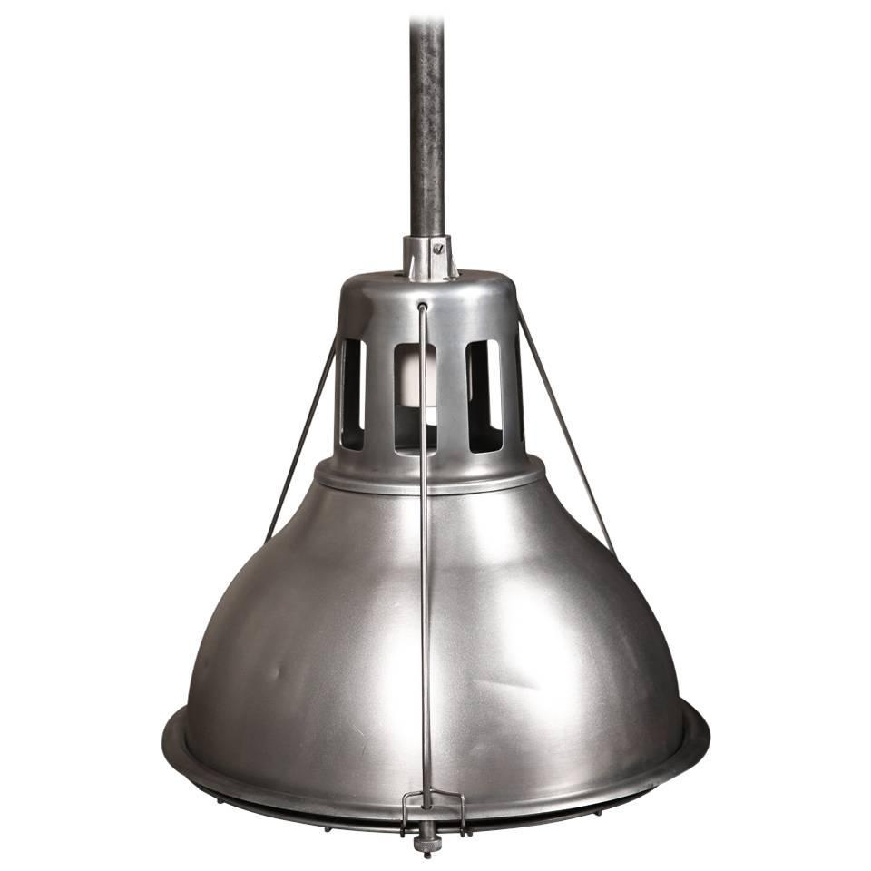 Vintage Industrial Ceiling Pendant Hanging Metal U0026 Aluminum Holophane Light  Lamp
