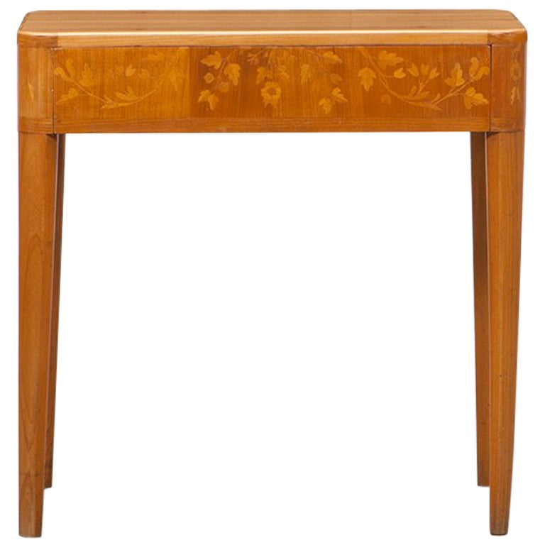 1950s brown mahogany Side Table by Carl Malmsten