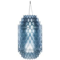 SLAMP Chantal Medium Pendant Light in Blue by Doriana & Massimiliano Fuksas