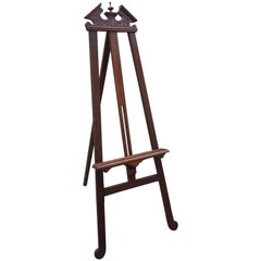 Antique Empire Revival Studio or Gallery Easel or Painting Stand with Provenance