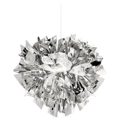 SLAMP Veli Medium Suspension Light in Silver by Adriano Rachele