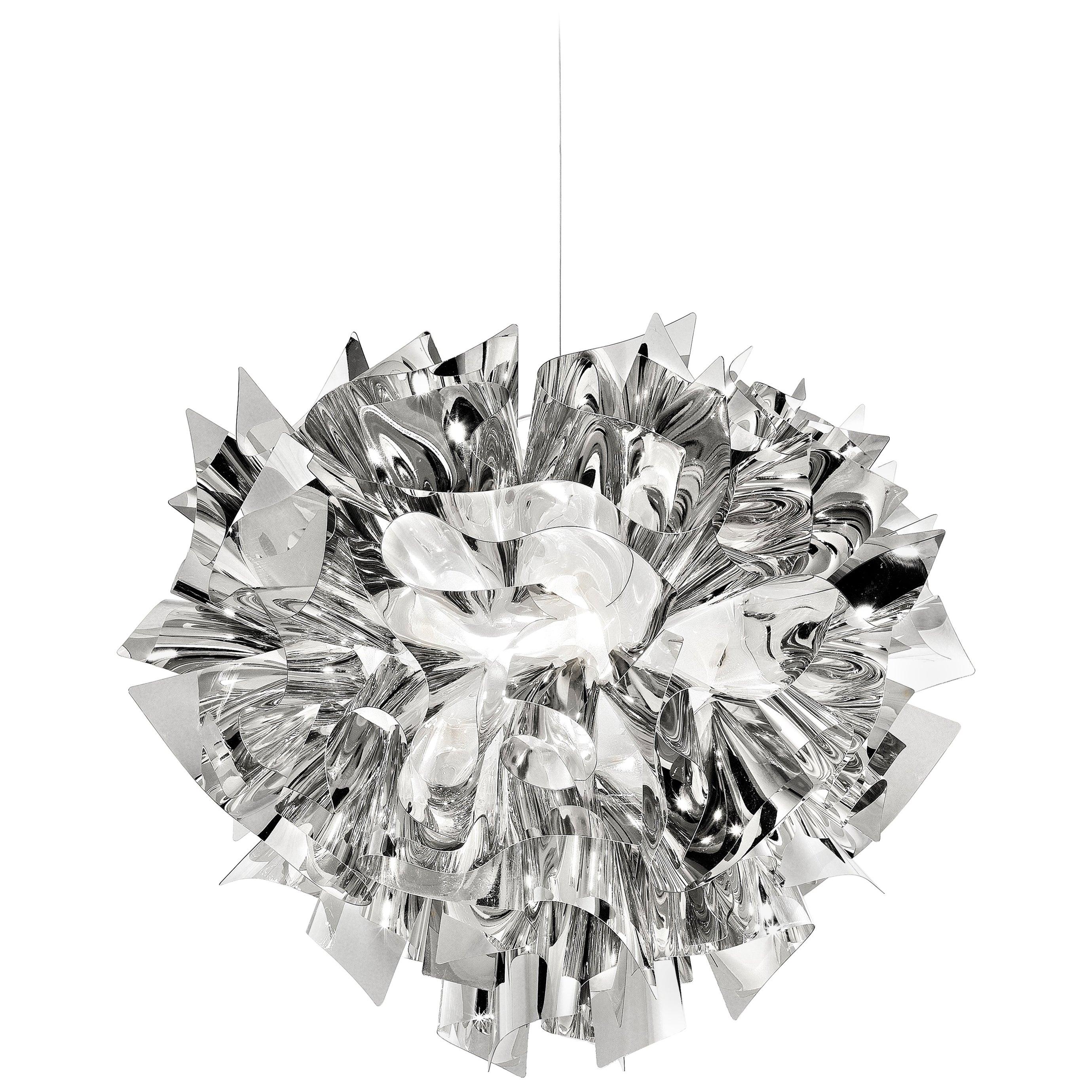 SLAMP Veli Medium Suspension Light in Silver by Adriano Rachele