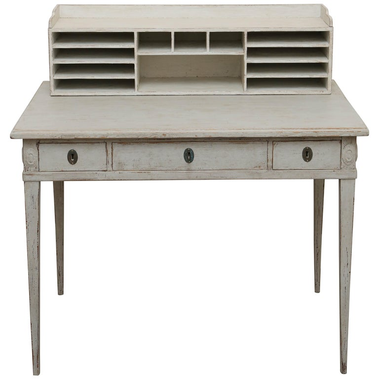 Antique Swedish Gustavian Style Painted Desk Mid 19th Century