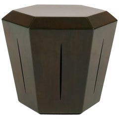 Hedra 14s, Steel Accent Table in Brown Green Patina by Topher Gent