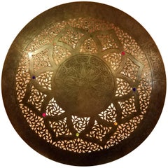 Beautiful Moroccan Copper Wall Sconce, Circular