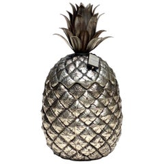 1970s by Mauro Manetti Italian Design Metal Pineapple Ice Bucket