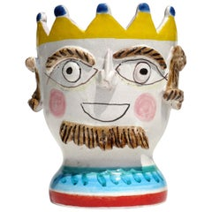 1960s by Giovanni de Simone Italian Pottery King Vase