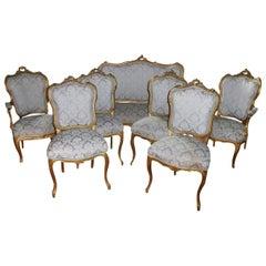 19th Century Louis XV Style Seven-Piece Salon Suite