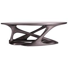Oval Shape with Organic Shape Legs Dark Gray Metallic Finish