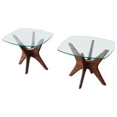 """Adrian Pearsall for Craft Associates """"Jacks"""" Side Tables, Pair"""