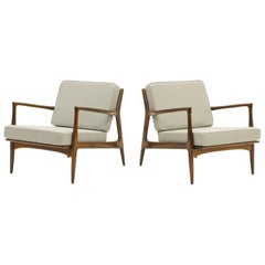 Pair of Kofod-Larsen Danish Modern Lounge Chairs, Restored, Excellent Condition