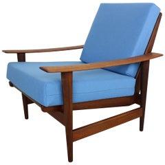 Danish Teak Armchair Newly Upholstered, 1960s