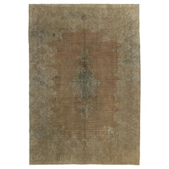 Overdyed Distressed Vintage Turkish Rug with Modern Industrial Style